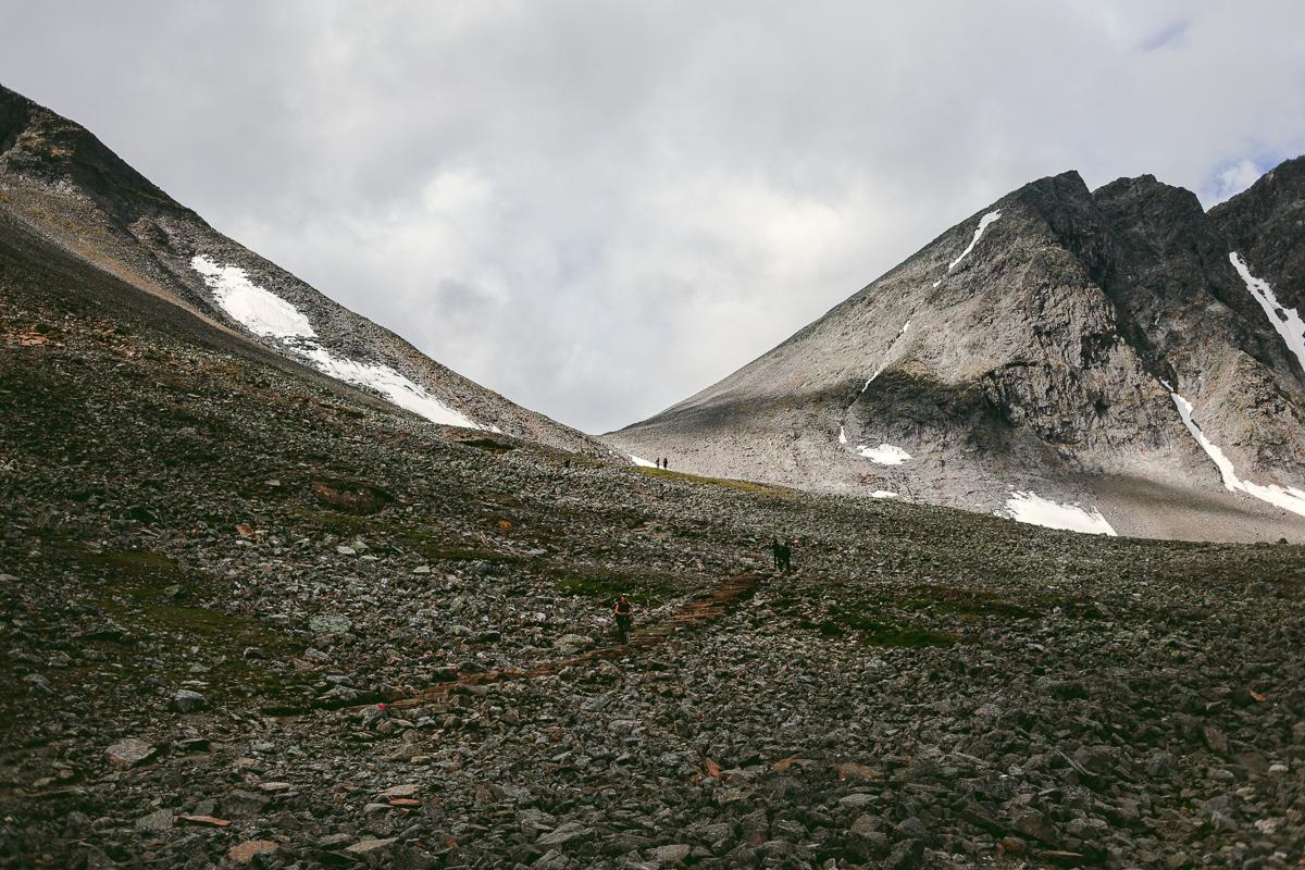 Kitteldalen i bakgrunden Vierramvare Vierranvárri
