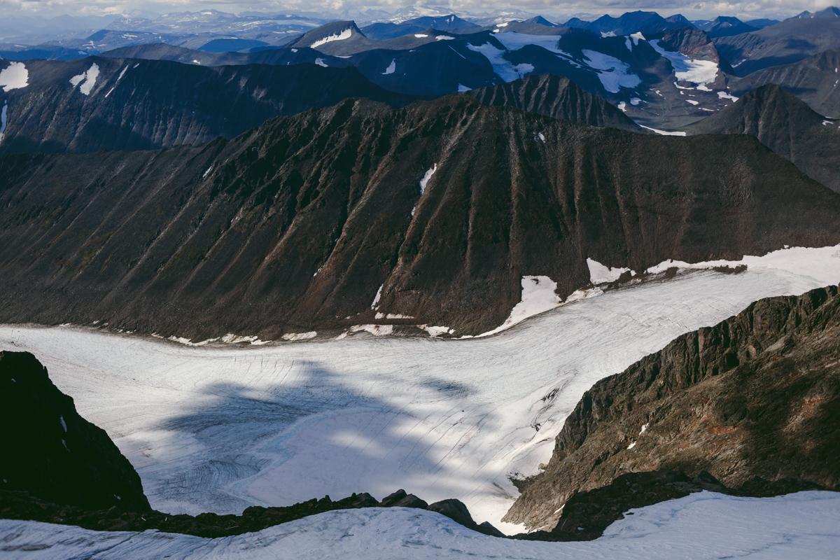 skanderna glaciär kebnekaise