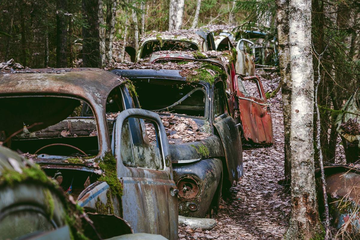 bilkyrkogård båstnäs täcksfors abanndoned