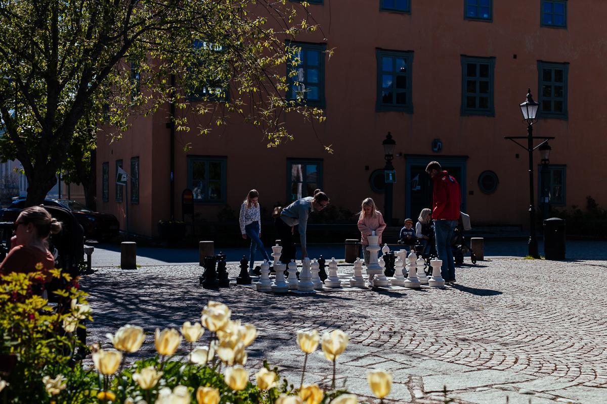 Glasskiosken på torget Vaxholm