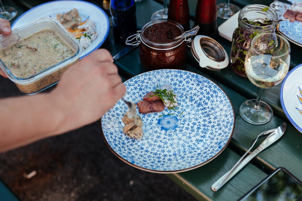 vegetarisk vegansk sill och vanlig matjesill