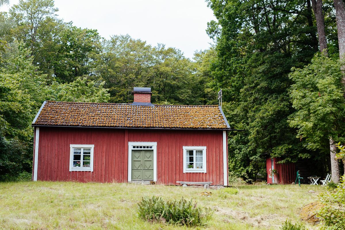 Torparstuga vid Åsnen i Småland