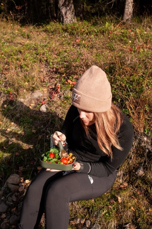 äta ute i naturen