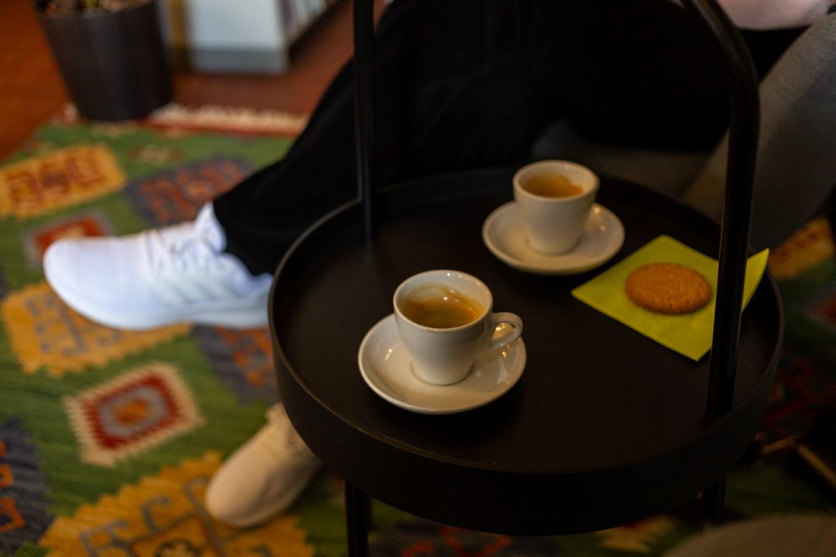 espresso i biblioteket