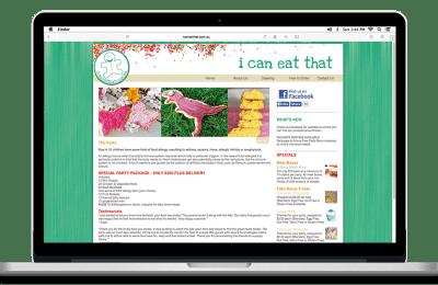 i can eat that website design