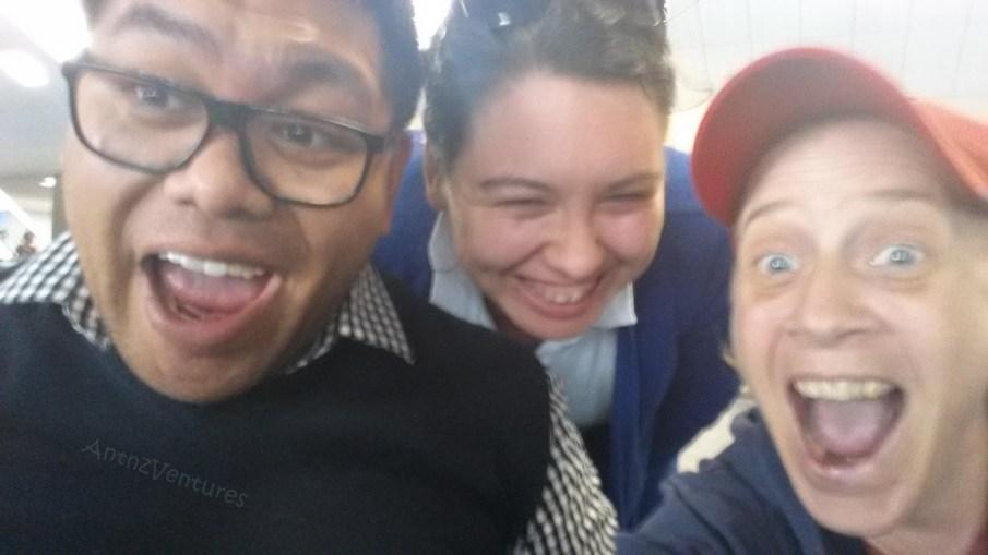 Jade Farrar (Co-Design, NEGL) Hannah and myself. A bit of a random meeting in airport!