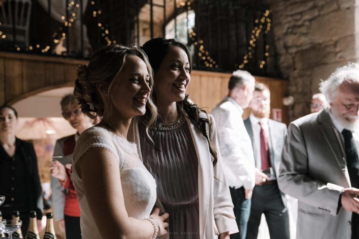 portrait des mariés reportage photo mariage moderne et bohème chic à quimper au domaine de l'orangerie de lanniron