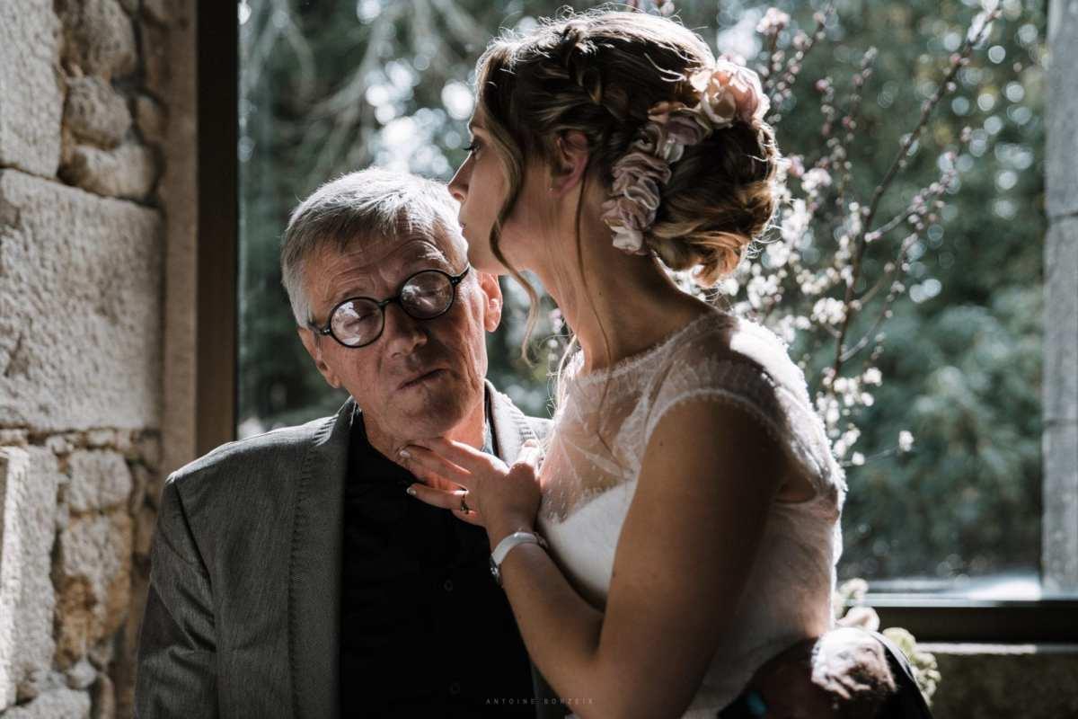 la mariée et son père