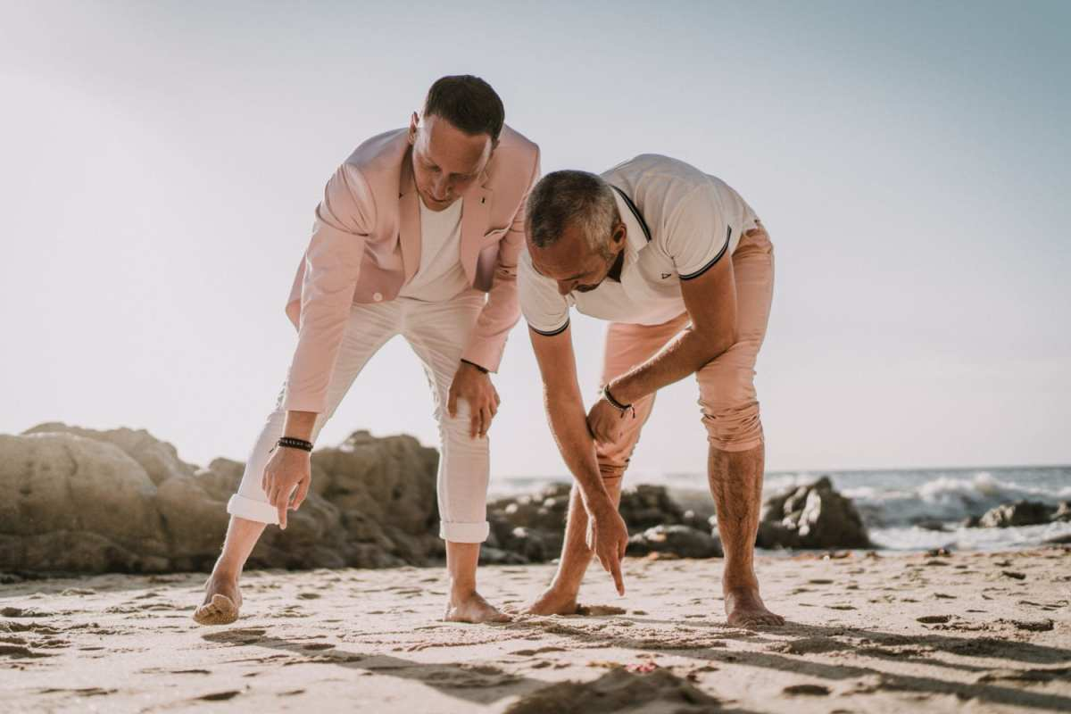 couple d'hommes lgbt photo mariage