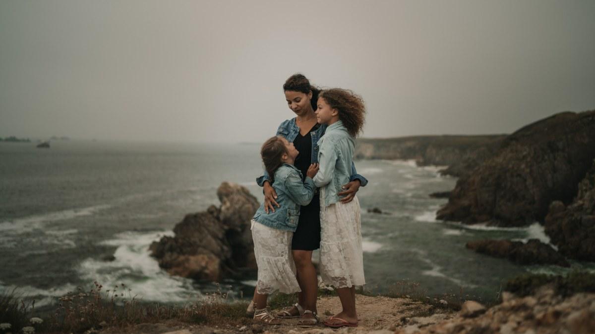 photo de famille avec enfants à Brest