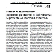 articolo La Sicilia 16 dicembre 2013
