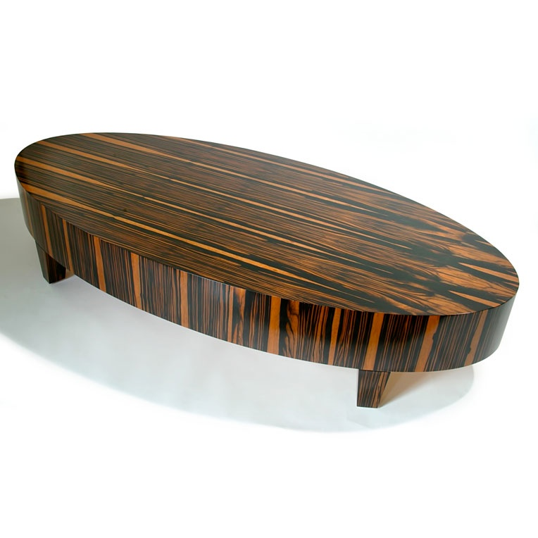 Table Coffee Oval Upholstered