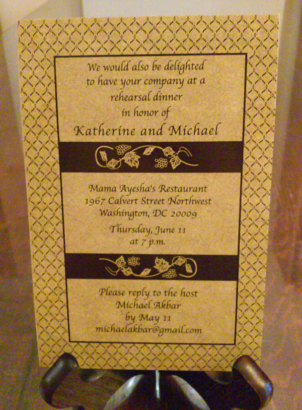 Persian Wedding Invitation Delights