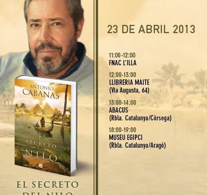 Antonio Cabanas firma libros el 23 de abril en Barcelona