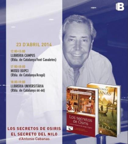 El 23 de Abril, día de Sant Jordi, Antonio Cabanas firmará libros y charlará con todos vosotros en Barcelona