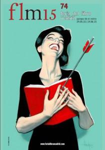 Cartel de la Feria del Libro de Madrid 2015, de Fernando Vicente