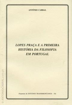 Lopes Praca e a primeira história da filosofia em Portugal