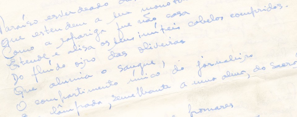 """Aqui, Douro"" (manuscrito)"