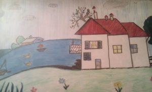 """""""Casa su prato con fiume #21"""" (Antonio Coletta, 1988)"""