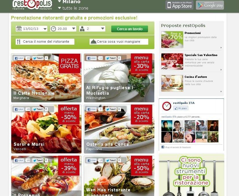 Con restOpolis, debutta la ristorazione Web 2.0