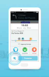 Waze Planned Drives ETA Panel on iOS