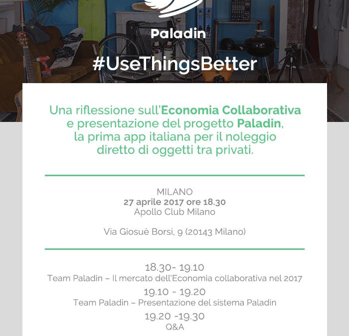 Paladin, la prima app italiana per la sharing economy