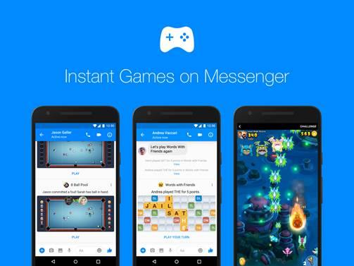 Facebook annuncia gli Instant Games su Messenger