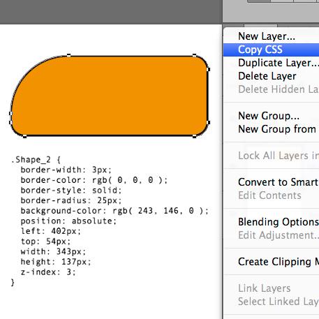 PhotoshopCC - copy CSS
