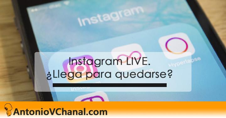 Instagram LIVE. ¿Llega para quedarse? ¿Tú qué piensas? El vídeo está de moda y lo demuestra Instagram LIVE que se une a la tendencia de la emisión del vídeo en directo desde sus apps móviles. ¿Aguantará?