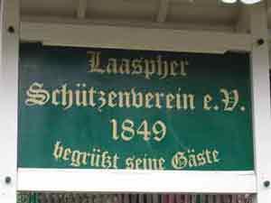 Willkommensschild in Bad Laasphe