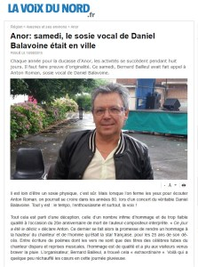 Le sosie vocal de Balavoine etait en ville