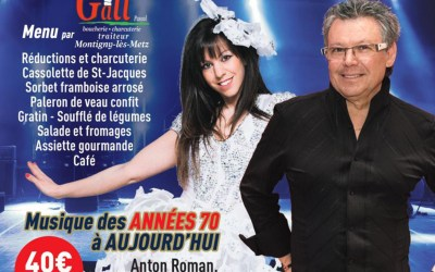 Repas Dansant Anton Roman Samedi 19 Octobre 2019 – au TRAM à Maizières-lès-Metz