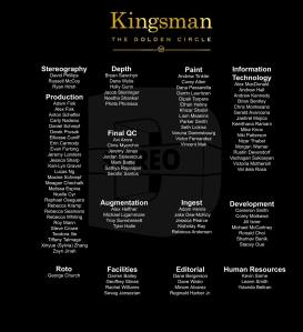 Stereo D Poster, Anton Schefter Credits for Movie Kingsman Golden Circle