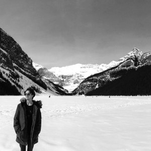 Anton Schefter Lake Louise Alberta Winter Black and White