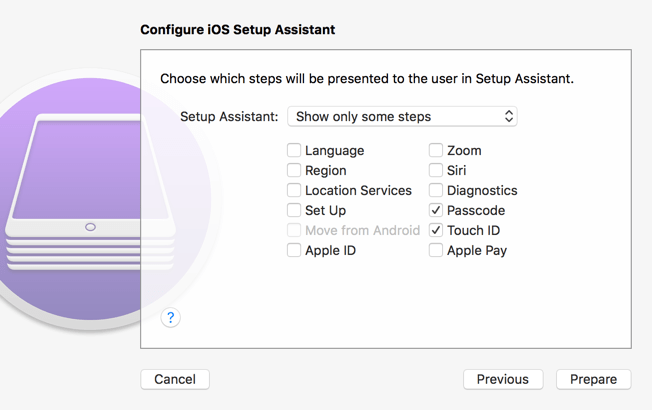 Prepare Device Apple Configurator