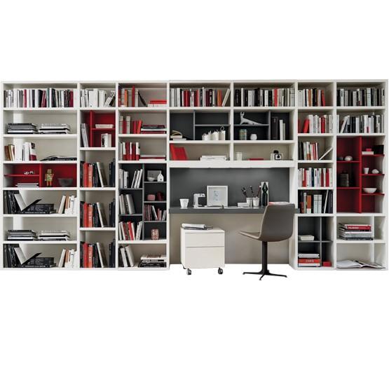 bibliotheque ouverte avec bureau