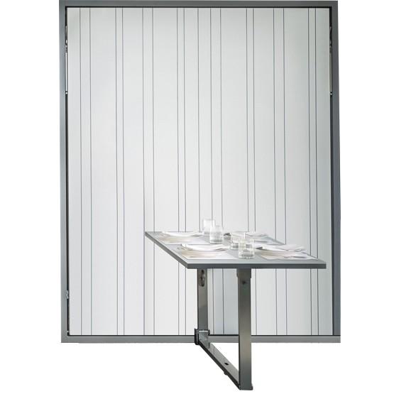lit escamotable couchage 160x200 avec table repas integree