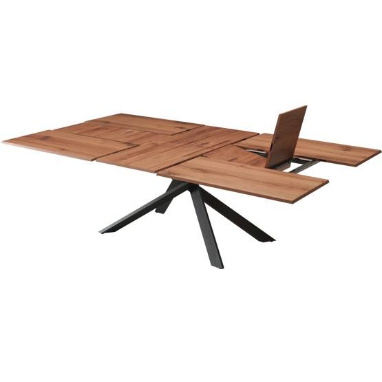 table repas extensible avec plateau bois