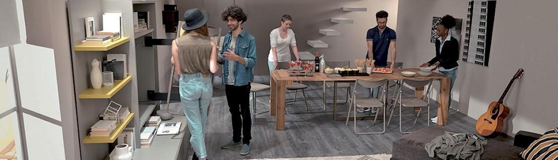 Meubles Gain De Place Mobilier Petits Espaces Antony Deco