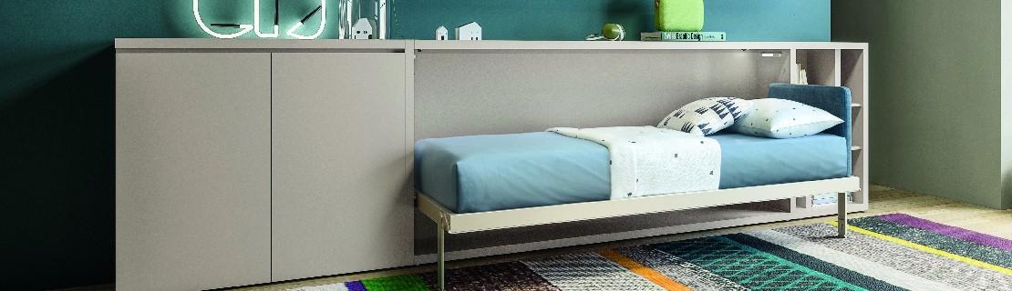 lit escamotable transversal armoire