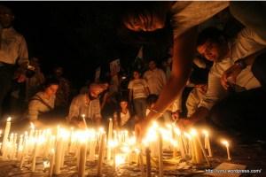 Image of a peace march by Mumbai blogger Vinu (http://vinu.wordpress.com)