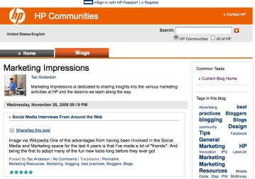 Image: HP's Marketing Impressions blog