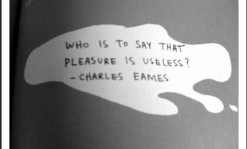 Useful pleasures