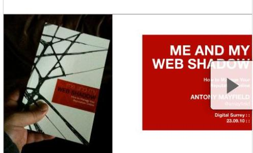 Slides from my #digitalsurrey talk last night: Me & My Web Shadow: slide-show edition