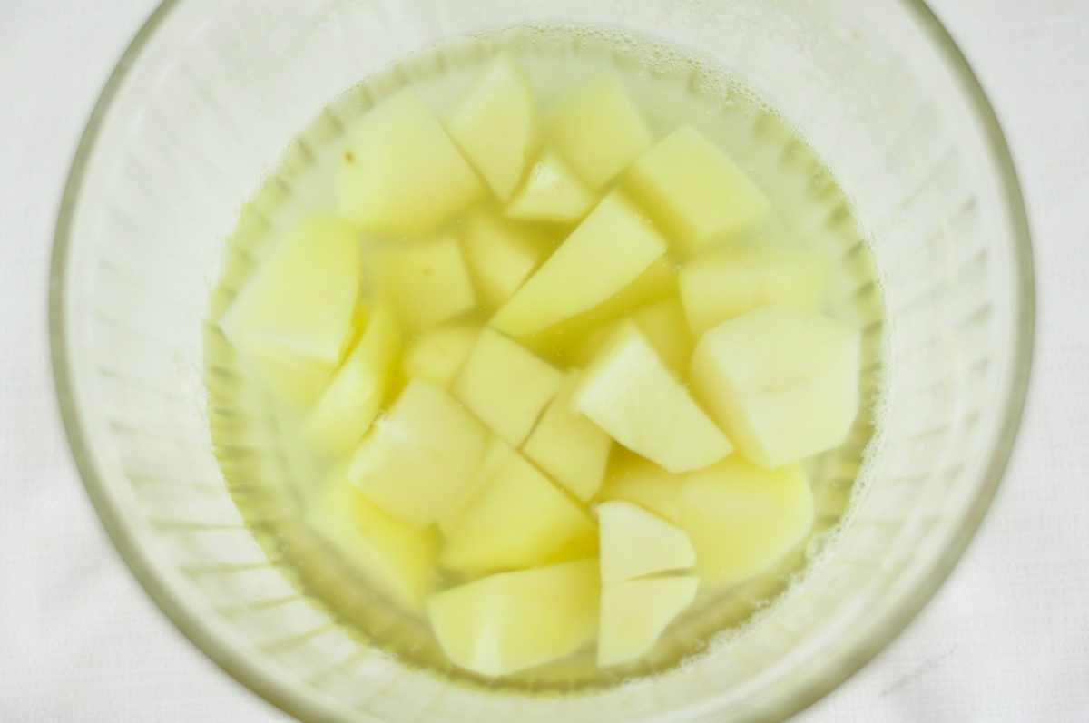 how to prepare boiled potato fry