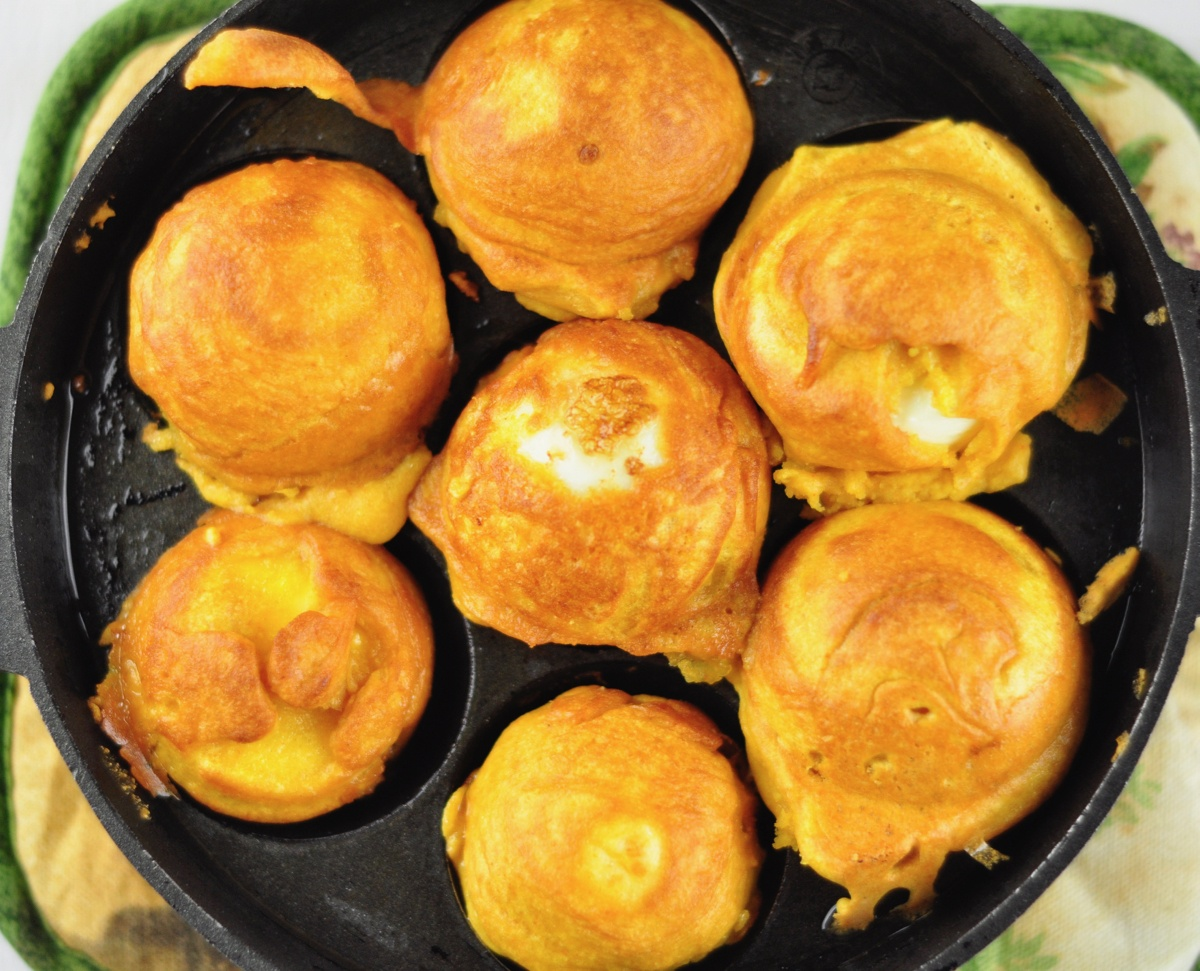 Egg Bonda in Appe Pan