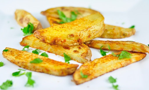 22 easy vegetarian finger food recipes antos kitchen 1 spicy baked potato wedges forumfinder Image collections