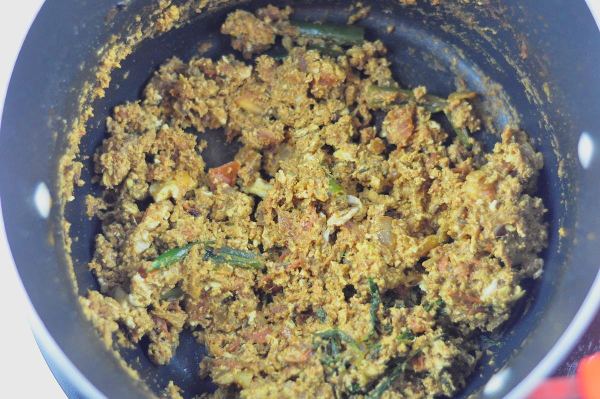 Egg Bhurji Biryani