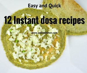 12 Instant Dosa Recipes
