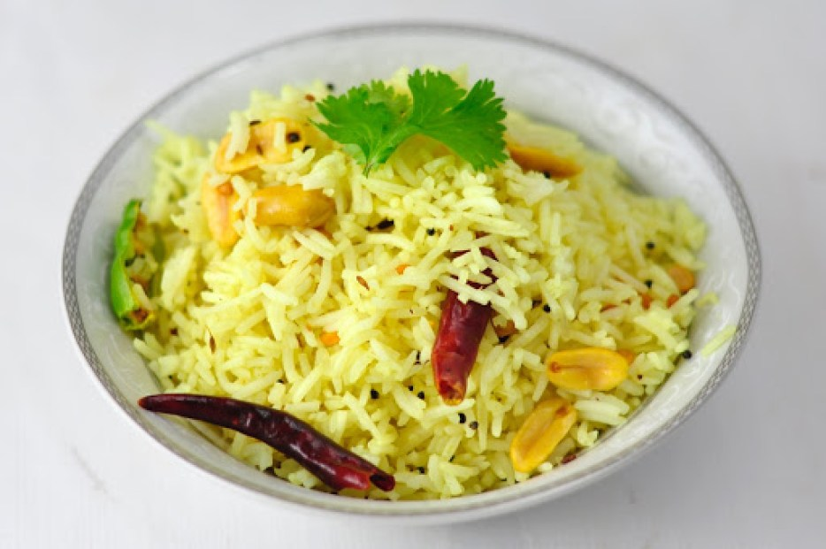 Lemon Rice Is A Quick And Easy Indian Vegetarian Recipe